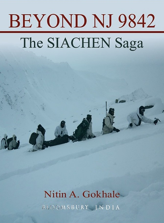 The cover of Nitin Gokhale's book, Beyond NJ 9842: The Siachen Saga.