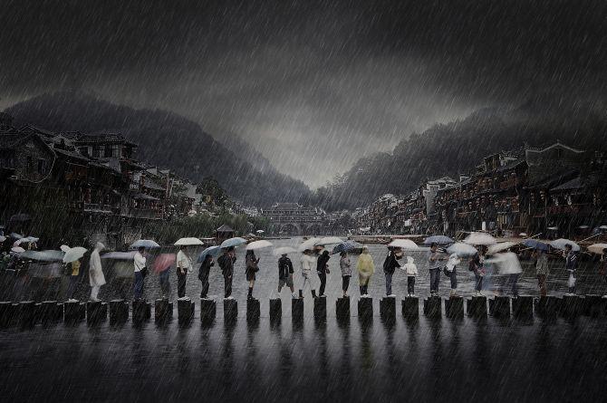 Winner 'Travel': 'Rain in ancient town' by Li Chen, China