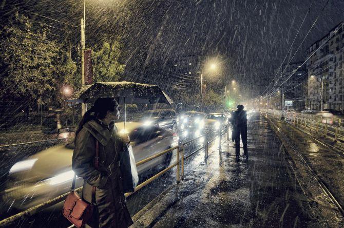 Winner 'Low Light': 'First Snow' by Vlad Eftenie, Romania