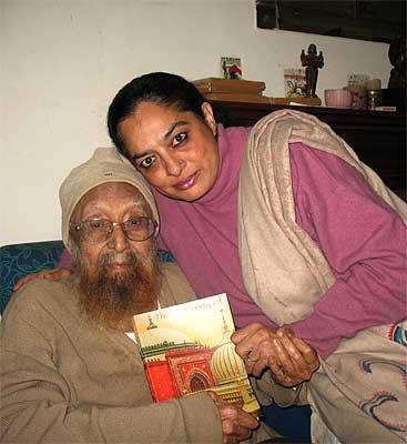 Khushwant Singh with Sadia Dehlvi