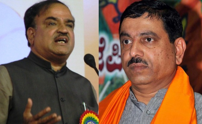 (Left) Ananth Kumar (right) Prahlad Joshi