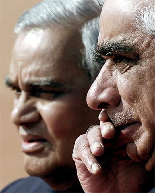 Former prime minister Atal Behari Vajpayee with Jaswant Singh