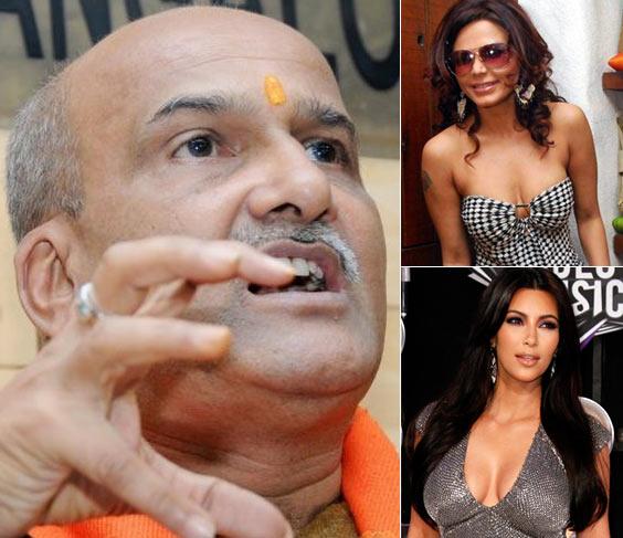 Ram Sene Chief Pramod Muthalik, Bollywood item girl Rakhi Sawant and Television personality Kim Kardashian
