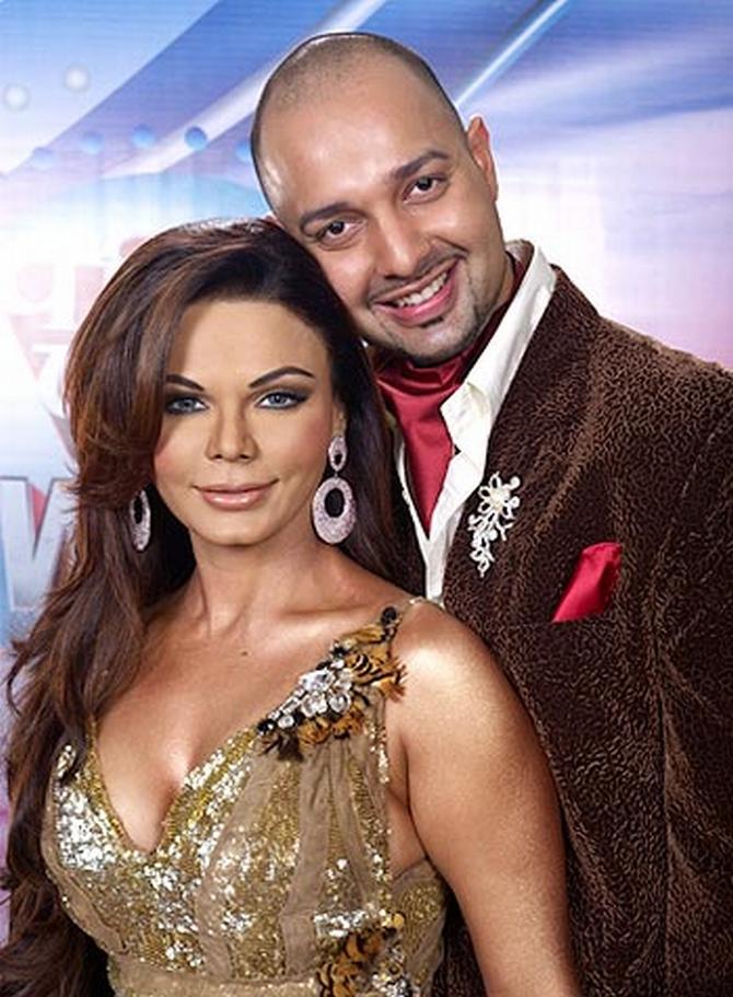 Item girl Rakhee Sawant with her former fiancée Elesh Parujanwala