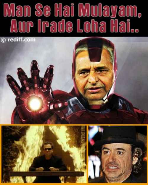 Poll meme of the day: Mulayam's 'Avenger' avatar