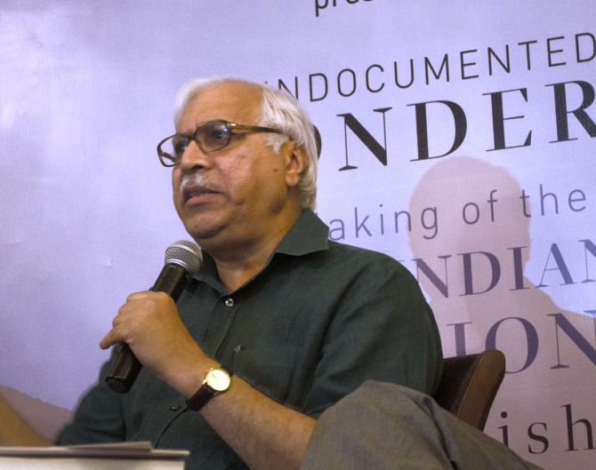 SY Quraishi, former Chief Election Commissioner, speaks at the release of his a book 'An Undocumented Wonder: The Making of The Great Indian Elections'