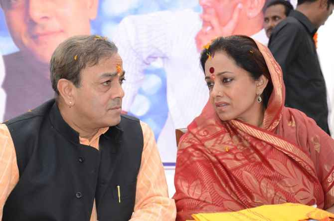 Ameeta Singh with her husband Sanjay Singh in Sultanpur.
