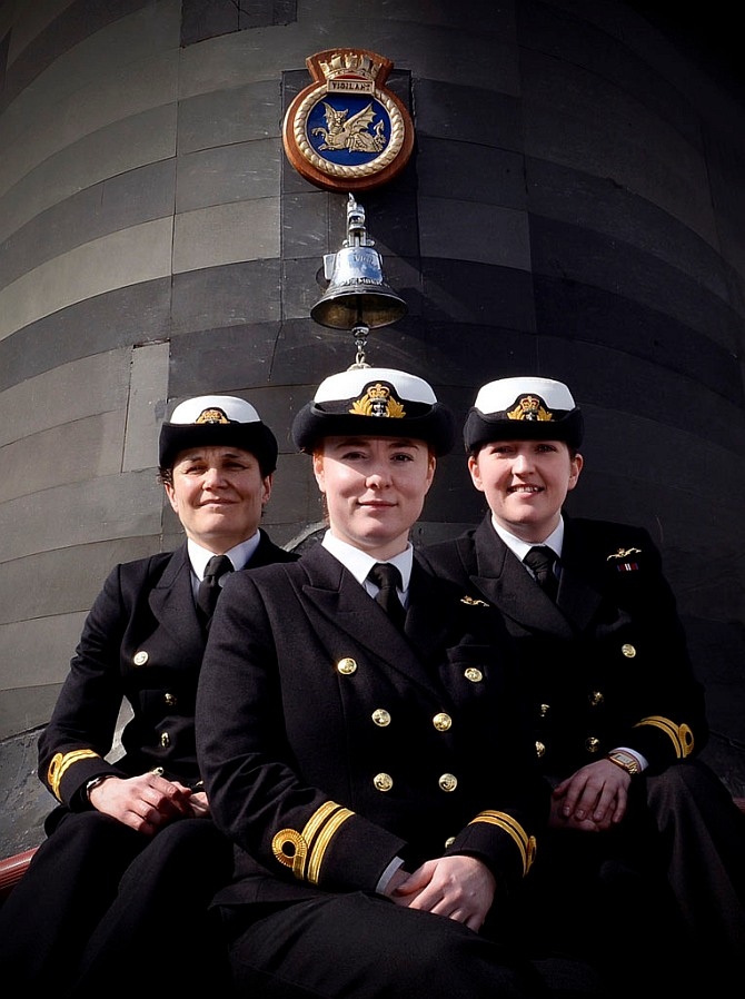 (Left-right) Lieutenants Maxine Stiles, Alexandra Olsson and Penny Thackray