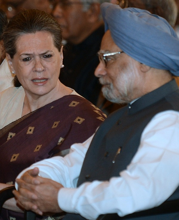 UPA chairperson Sonia Gandhi with PM Manmohan Singh