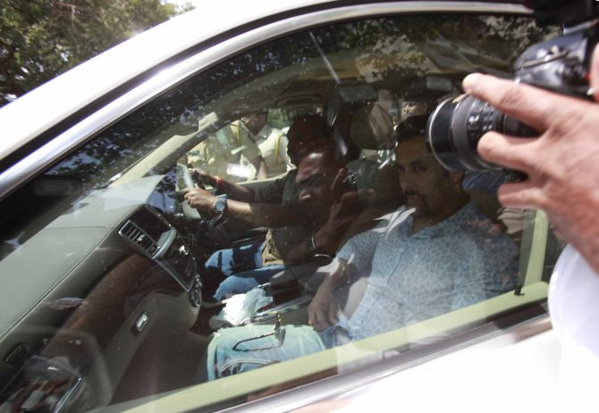 Salman Khan outside the sessions court in Mumbai on Tuesday