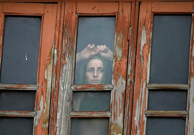 A Kashmiri woman in Srinagar.