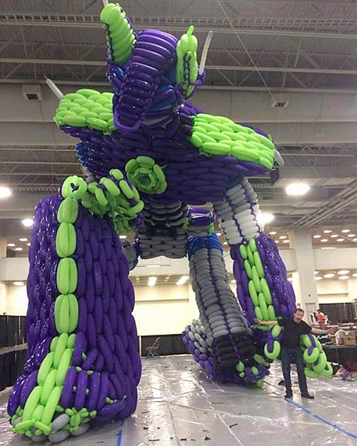 This is the largest balloon sculpture ever