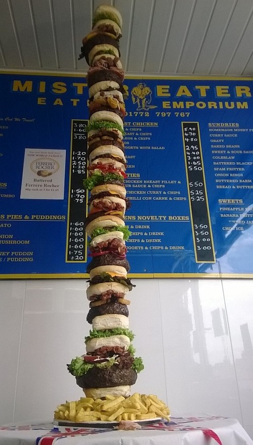 Meet world's first monster sized burger