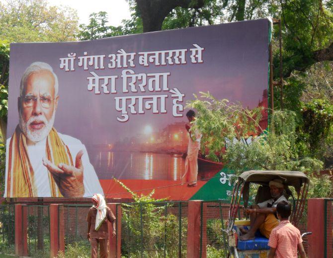 PIX: Party men rev it up in the final leg of Varanasi campaign