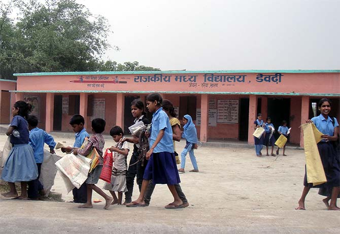 A government school in Terraiya, Bihar
