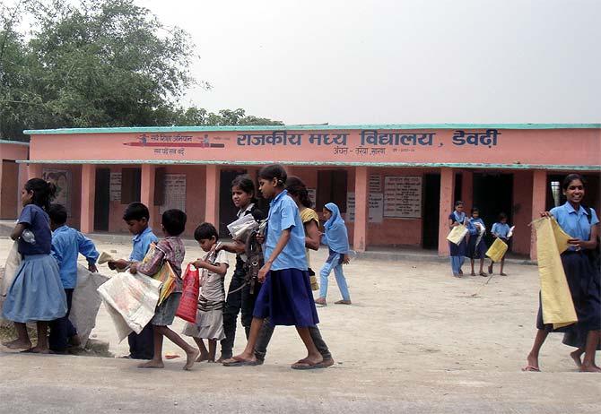 A government school in Terraiya, Bihar