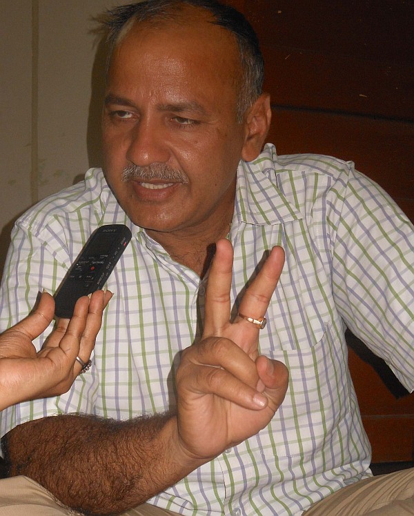 Aam Aadmi Party leader Manish Sisodia.