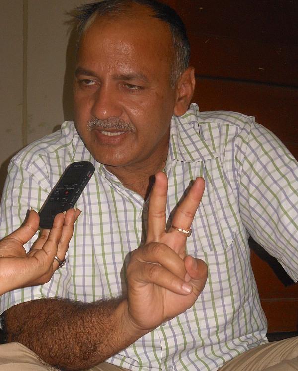 Aam Aadmi Party leader Manish Sisodia.