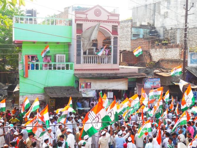 Rahul Gandhi in Sonarpura.