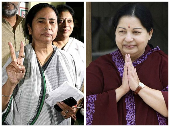 AIADMK and Trinamool Congress might get upto 39 and 42 seats, respectively