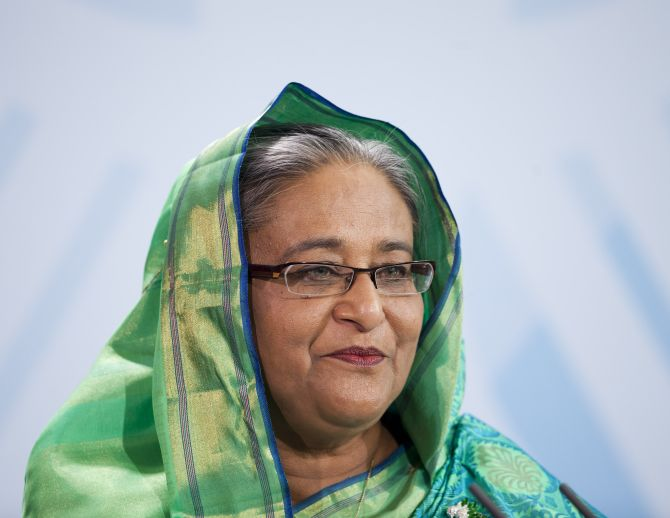 Bangladesh PM Sheikh Hasina wrote a congratulatory letter to Modi and said she hoped for better ties with India.