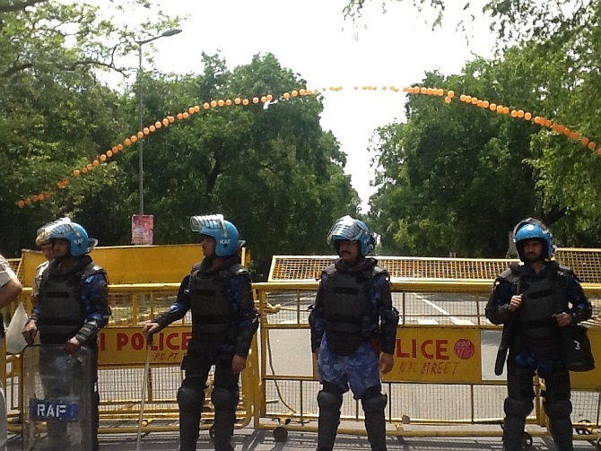 Rapid Action Force personnel deployed in Delhi