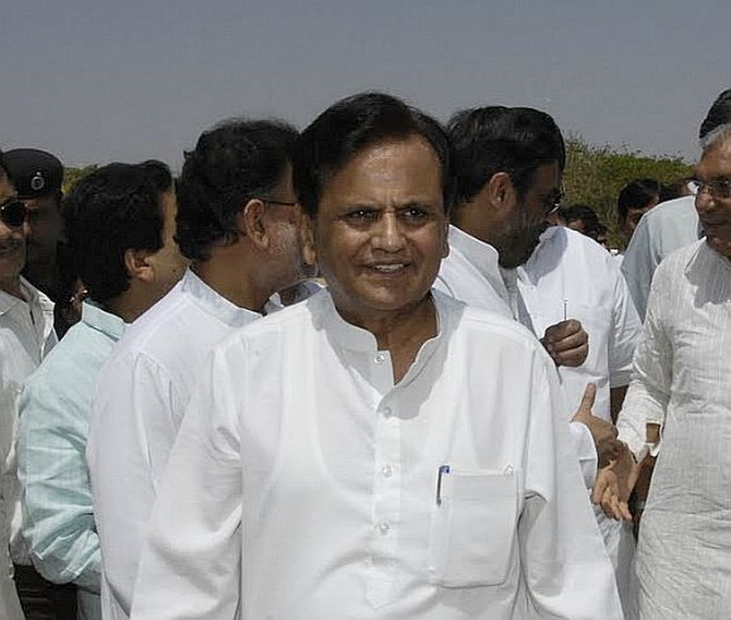 Political secretary to Congress president Sonia Gandhi Ahmed Patel