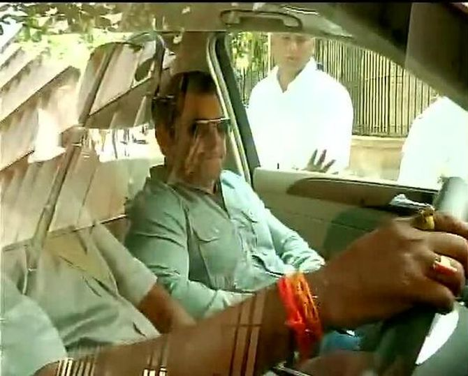 Salman Khan arriving at the session's court for his hearing in the hit-and-run case