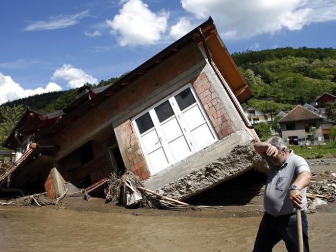 Thousands of homes were ravaged by the floods.