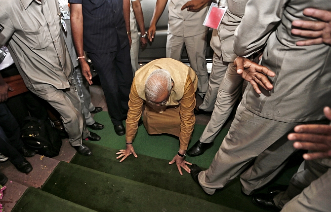 When Modi first stepped into Parliament