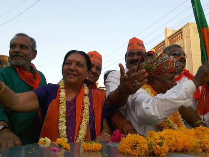 Anandiben Patel, who succeeds Narendra Modi as the new Gujarat chief minister