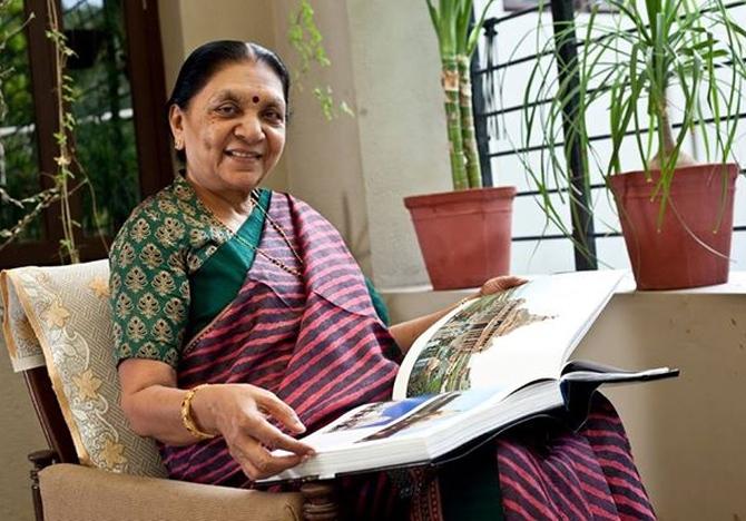 Anandiben at her residence
