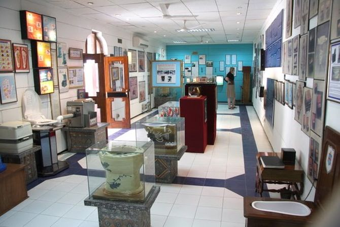 The Sulabh Museum of Toilets traces the history of toilets for the past 4,500 years
