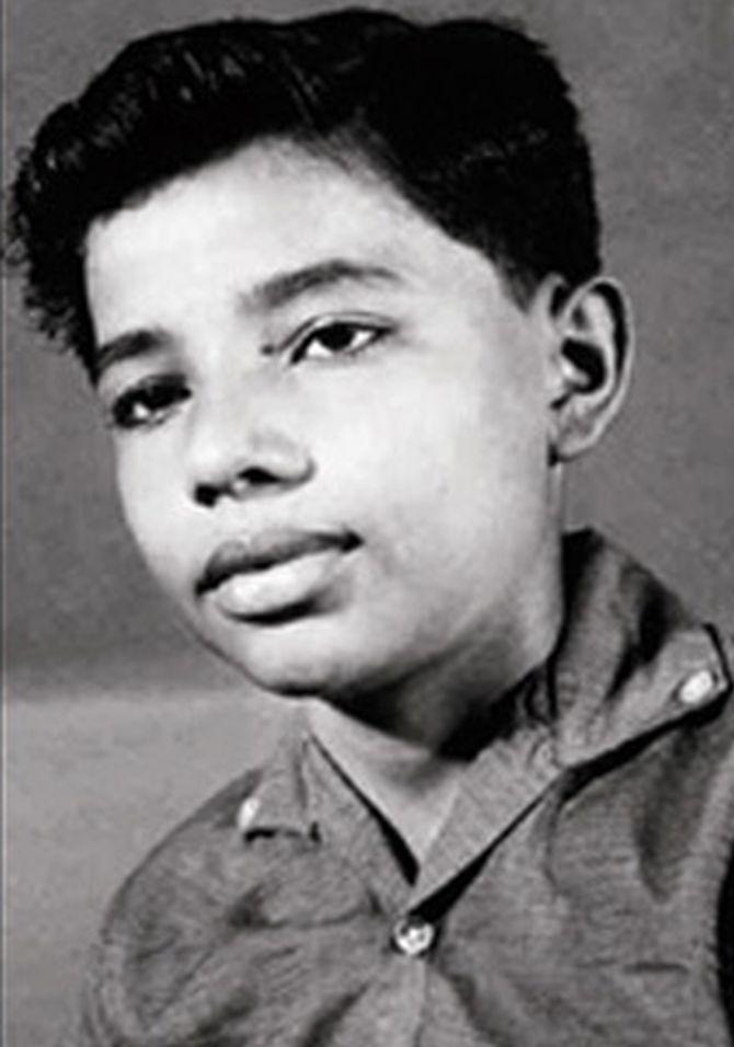 Narendra Modi as a young boy.
