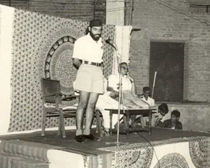 Modi as a young RSS pracharak