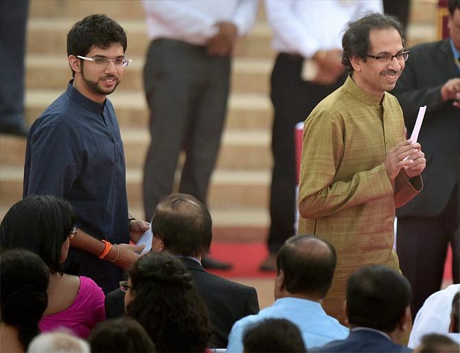 Uddhav and Aditya Thackeray