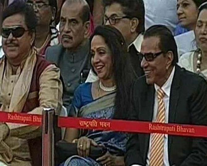 Hema Malini, Dharmendra and Shatrughan Sinha