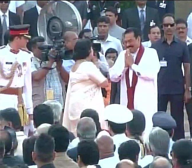 Sri Lanka President Rajapaksa