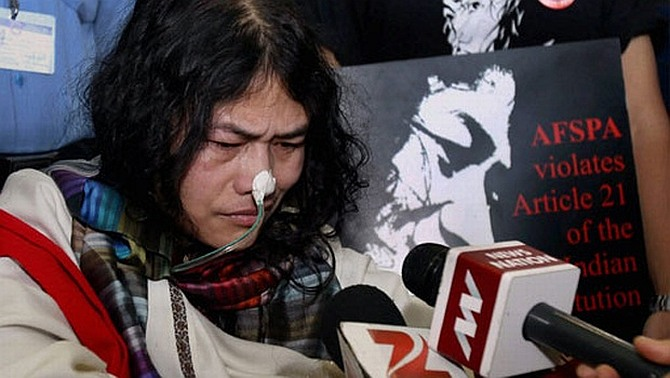 Irom Sharmila, who has been on fast against AFSPA in Manipur
