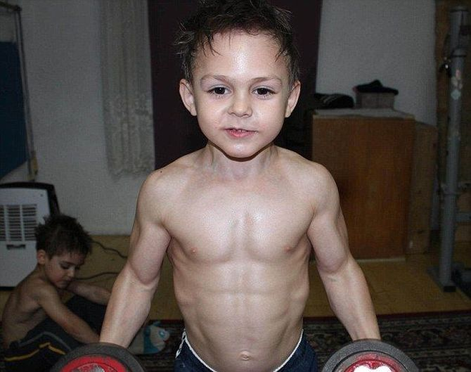 Tiny tots become huge bodybuilders