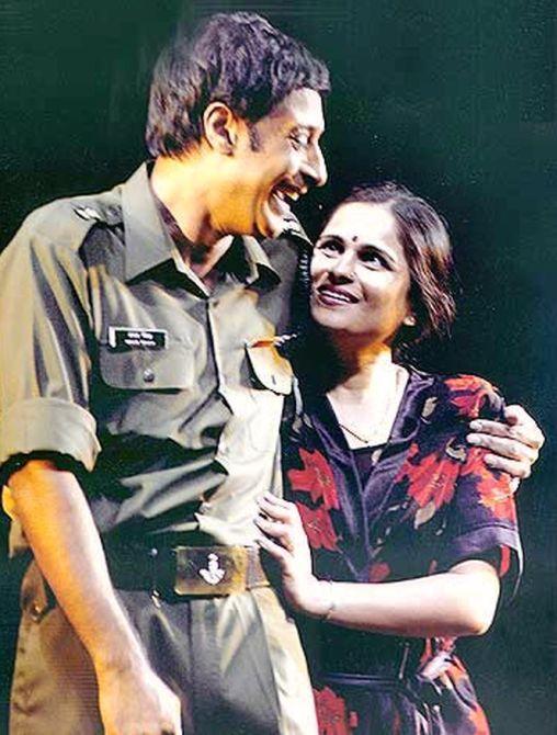 Col Vasanth with his wife Subhashini