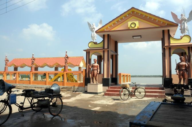 The Ichhamati riverfront