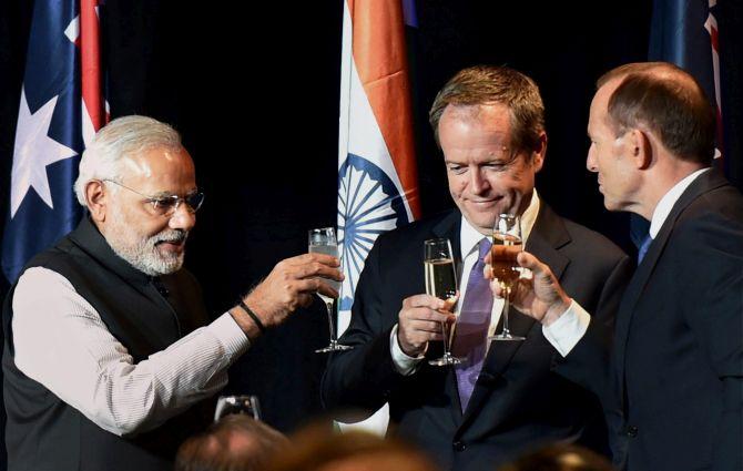 Selfies, Koalas and hugs: Modi's Down Under visit - Rediff