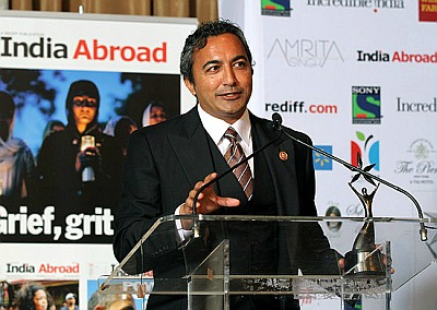 US Congressman Ami Bera at the India Abroad Person of the Year event.