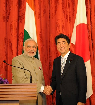 Narendra Modi with Shinzo Abe