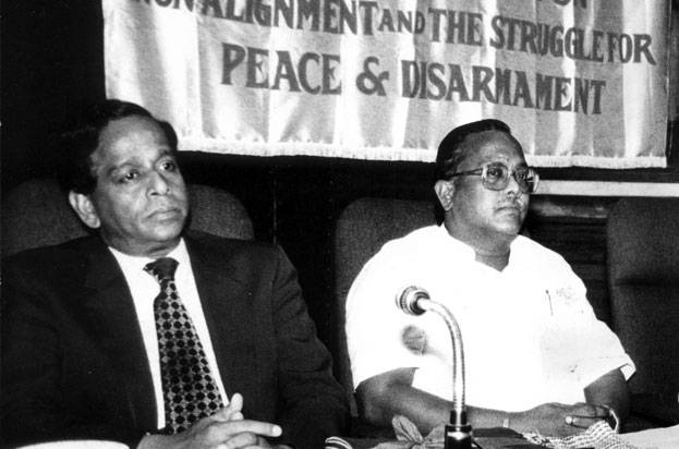 The Secretary in the Ministry of External Affairs A.P. Venkateswaran initiated a Group discussion on International Terrorism in New Delhi on July 19, 1985.