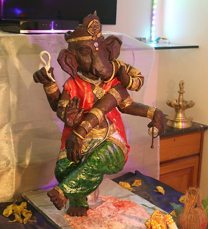 A Ganpati idol made from chocolate