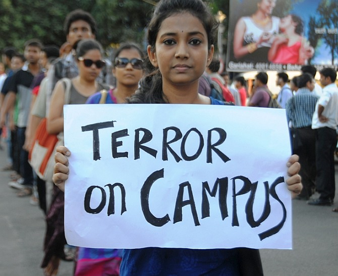 Student protests at Jadavpur University
