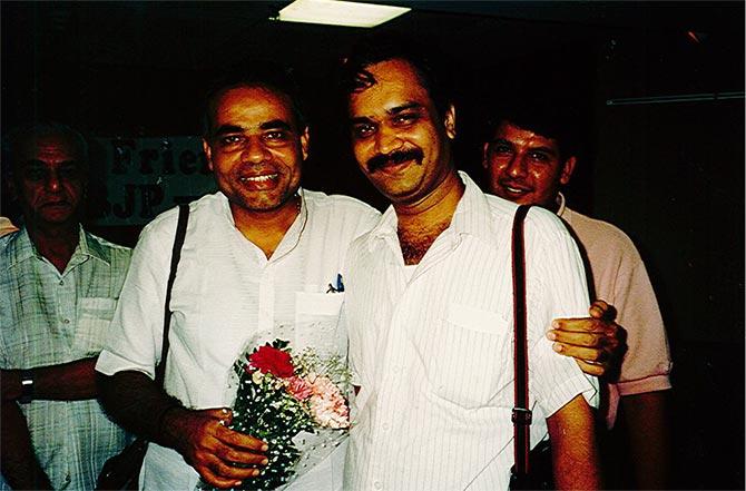 Modi with Suresh Jani