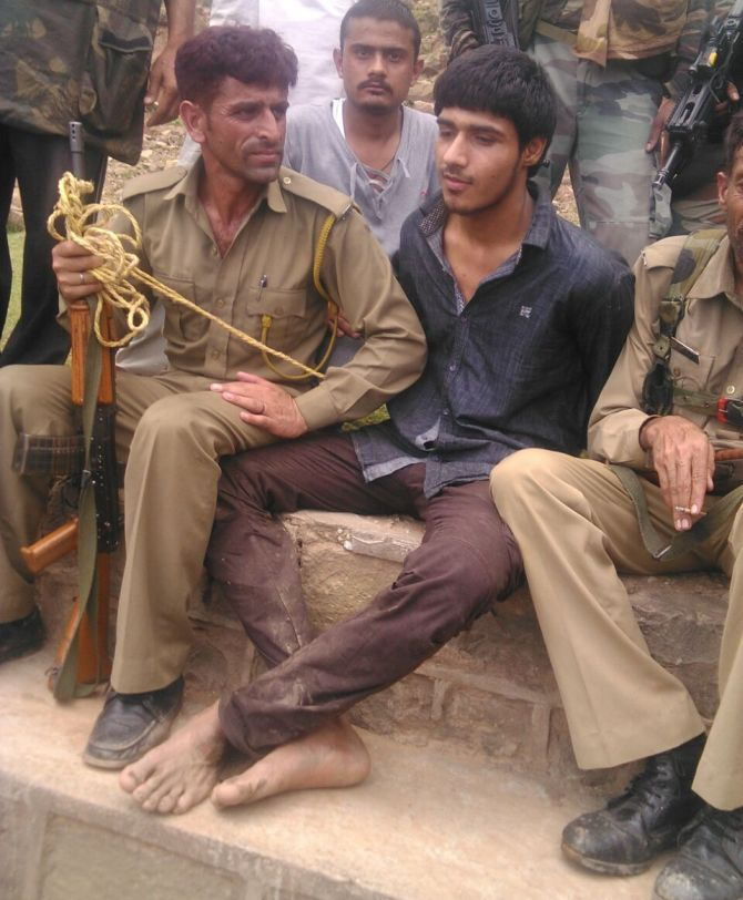 Security forces arrested a Pakistani terrorist, Usman Khan, in Jammu in August 2015.